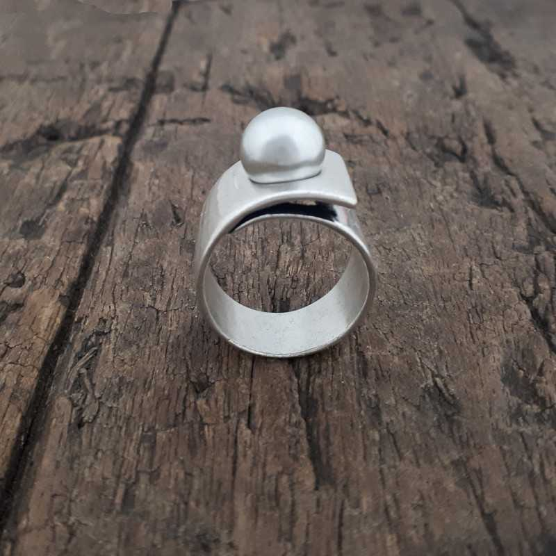 2.020.00 Grey Pearl Ring